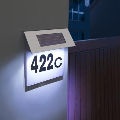 Napelemes házszámtábla LED háttérvilágítással