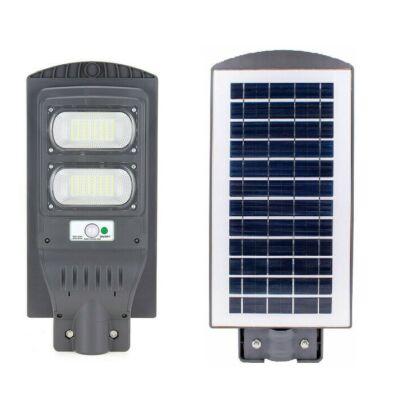 Napelemes utcai, udvari LED lámpa mozgásérzékelővel - 80W