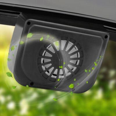 Napelemes autó ablakra rögzíthető szellőztető ventilátor