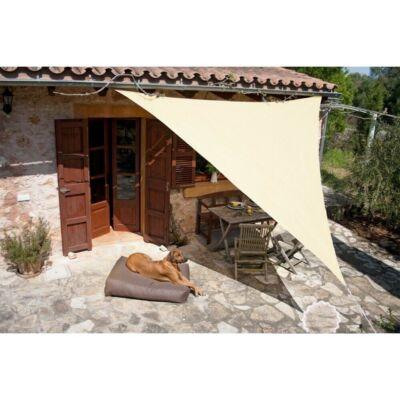 Napvitorla - árnyékoló teraszra, erkélyre és kertbe háromszög alakú 3x3x3 m bézs színben - polyester (vízálló)