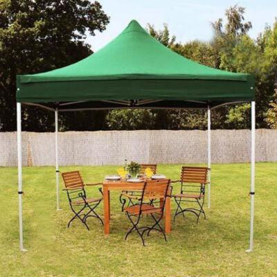 Összecsukható kerti pavilon, sörsátor 3x3m-es méretben - zöld