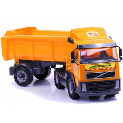 Volvo nagy méretű billenős teherautó, kamion, játékautó, 49 cm