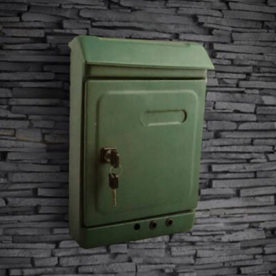 Möller zöld zárható fém postaláda, levélszekrény, MR70606
