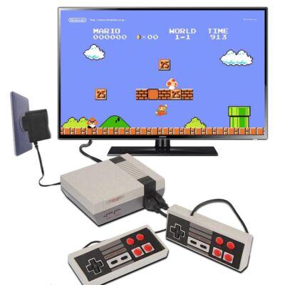 Retro játékkonzol + 2 db kontroller 500 beépített játékkal