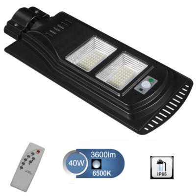 SNHL napelemes utcai, udvari LED lámpa mozgásérzékelővel, távirányítóval - 40W