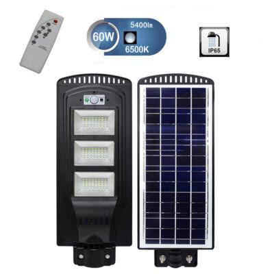 SNHL napelemes utcai, udvari LED lámpa mozgásérzékelővel, távirányítóval - 60W