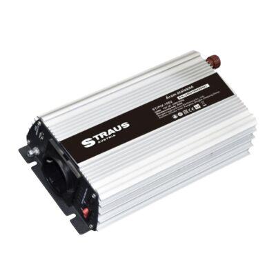 Straus autós feszültségátalakító inverter, 12V-ról 230V, 1000W