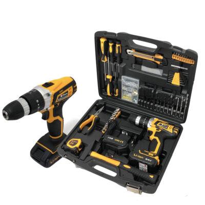 Straus 150 részes szerszám készlet akkus fúróval, 2 db 24V akkumulátorral, kofferben, ST/CD24-150