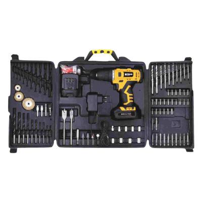 Straus 92 részes akkus fúrógép és tartozékkészlet, 2 db 24V akkumulátorral, kofferben, ST/CDD24-092