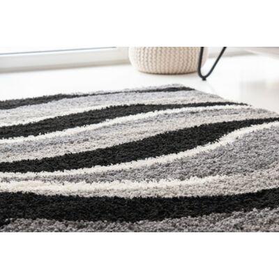 Shaggy szőnyeg, szürke hullám mintás, Ava, 120x170cm