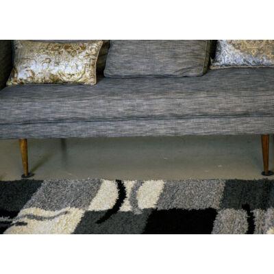 Shaggy szőnyeg, szürke kockás, Olivia, 120x170cm, 3cm szálhossz