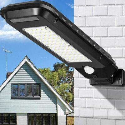 Falra szerelhető többfunkciós napelemes lámpa mozgásérzékelővel