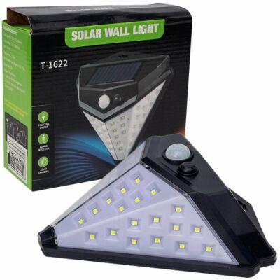 Napelemes fali lámpa mozgásérzékelővel, háromszög oldalakkal