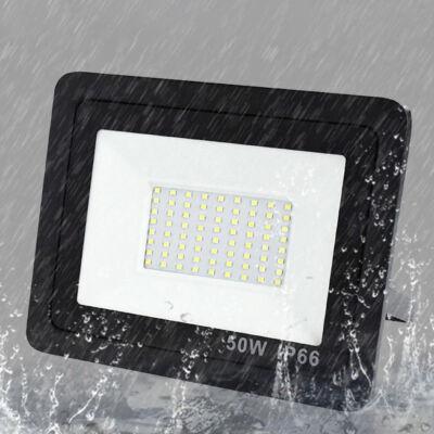 Vékony kialakítású SMD LED reflektor 50W teljesítménnyel, fekete színben