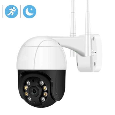 Kültéri WiFi IP PT biztonsági kamera, éjjellátó, távolról vezérelhető, 1080p