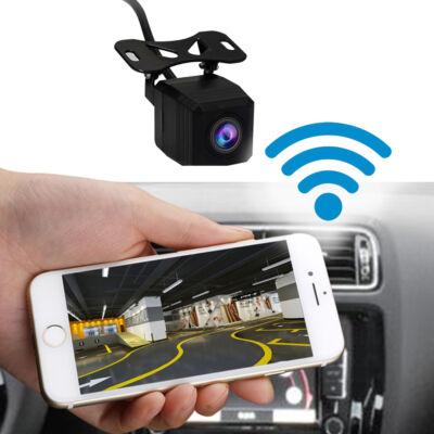 Okostelefonhoz, táblagéphez, fejegységhez csatlakoztatható WIFI tolatókamera
