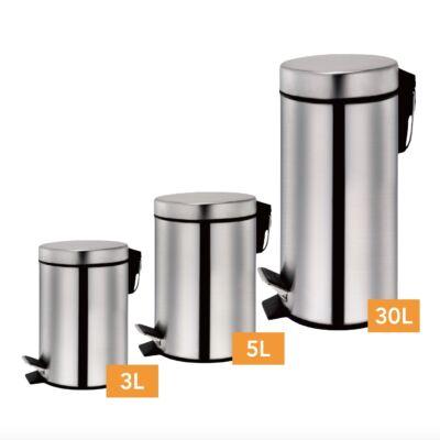 Zurrichberg 3 részes rozsdamentes acél szemetes szett, 3+5+30 literes