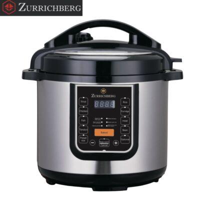 Zurrichberg multifunkciós főzőedény, multi cooker 6 L, 1000 W, 12 program, időzítő + 2 kiegészítő
