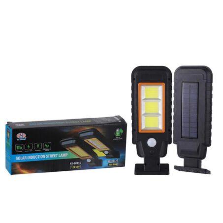 120 COB LED-es napelemes LED lámpa mozgásérzékelővel, HS-8011D