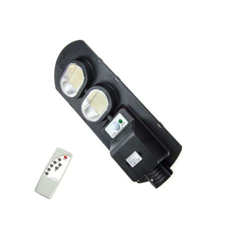 Napelemes udvari, utcai LED lámpa távirányítóval, 200W teljesítménnyel