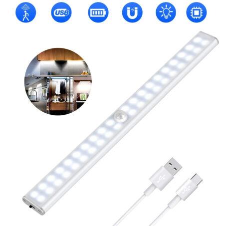 Többcélú mágneses LED világítás mozgásérzékelővel, beépített akkumulátorral