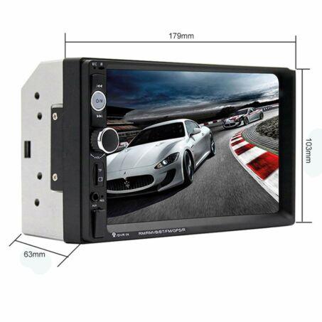 """7"""" Érintőképernyős autós fejegység, Bluetooth, USB, MicroSD támogatással, 2DIN"""