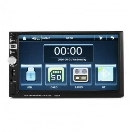 """7"""" 2 DIN Érintőképernyős autós fejegység, Bluetooth, USB, MicroSD, MirrorLink funkcióval"""