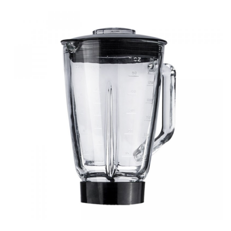 Elite Electronics® 1.5 literes üveg turmix edény műanyag fedővel konyhai robotgéphez