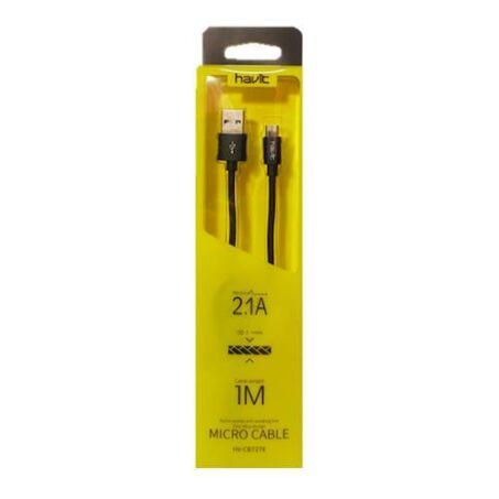 Havit lightning töltőkábel, adatkábel, fekete színben, 2 méter