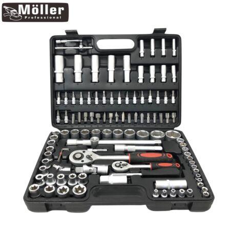 Értékcsökkent - Möller 108 részes racsnis dugókulcs készlet kofferben MR60282