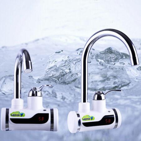 LED kijelzős átfolyós vízmelegítő fali csatlakozóval, 3 kW teljesítménnyel