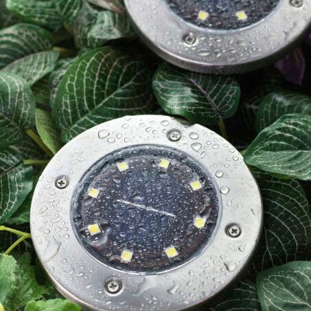 Disk Lights 8 ledes napelemes nyomvonaljelölő lámpa készlet