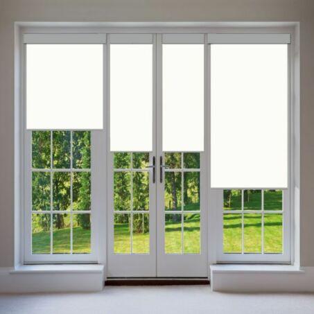 Elite Home® ablakra szerelhető sötétítő és árnyékoló roló, fém házban, fehér, 60x90cm