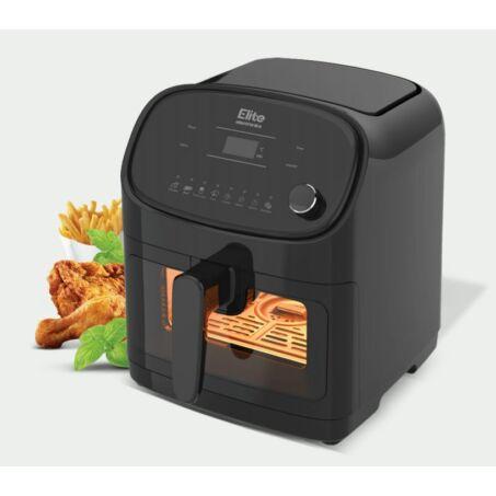 Elite® olaj nélküli forró levegős fritőz digitális kijelzővel, betekintőablakkal 1700W, 5,5 l kapacitás + receptkönyv