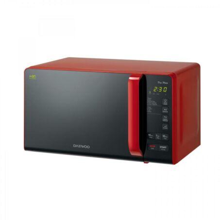 Daewoo Mikrohullámú Sütő, 20 L, 800 W, Piros, KOR-6S3DBR - csomagolássérült