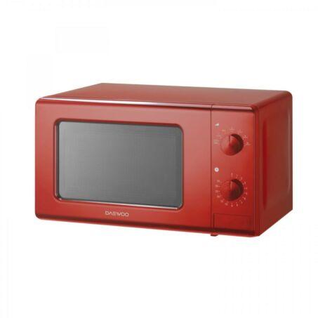 Daewoo Mechanikus Mikrohullámú sütő, 20 liter,, 700 W, Piros, KOR-6S20R - csomagolássérült