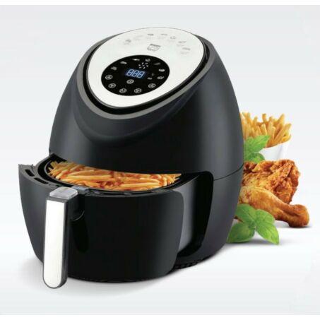 Elite® olaj nélküli forró levegős fritőz digitális kijelzővel 1800W, 5,6 l kapacitással - fekete + receptkönyvvel