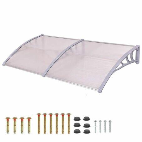Műanyag extrakönnyű fényáteresztő előtető rögzítőelemekkel 240 x 90 cm, fehér
