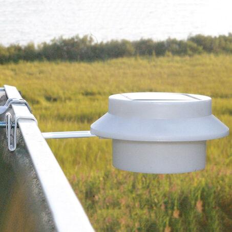 Napelemes ereszcsatornára vagy kerítésre szerelhető LED lámpa, fehér, 2 db