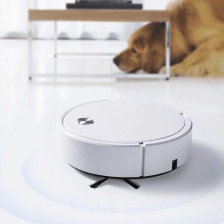 Akkumulátoros robotporszívó, padlótisztító, fehér, ES250