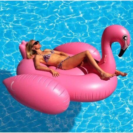 Óriás felfújható flamingó matrac 195 x 200 x 120 cm