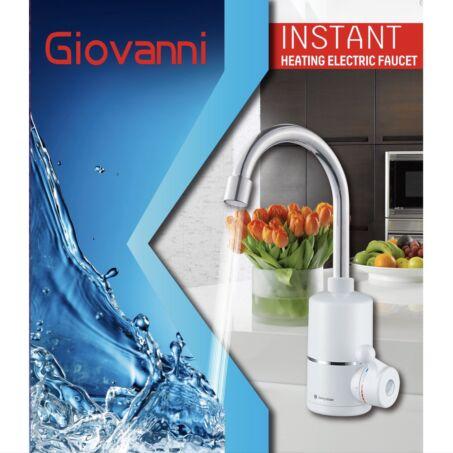 Giovanni prémium átfolyós vízmelegítő csaptelep, fali bekötésű 3600W
