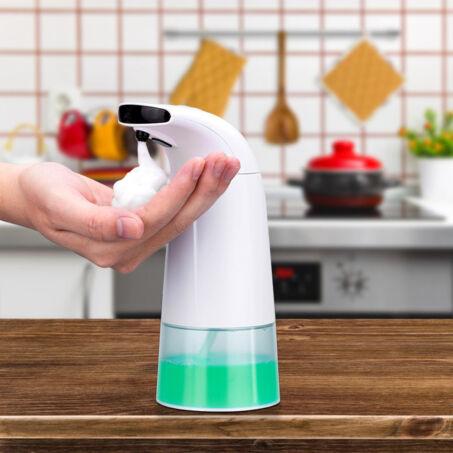 Habosító automata szappanadagoló, érintésmentes, higiénikus