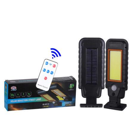 Napelemes LED lámpa mozgásérzékelővel, fali konzollal és távirányítóval, HS-8011C