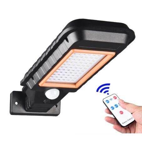 Napelemes LED lámpa mozgásérzékelővel, fali konzollal és távirányítóval, HS-8011B