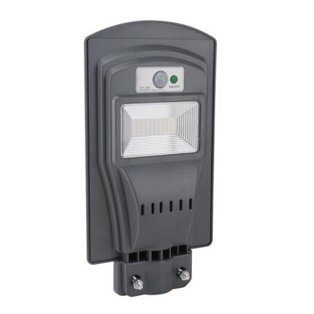 Napelemes utcai LED lámpa mozgásérzékelővel, 30W