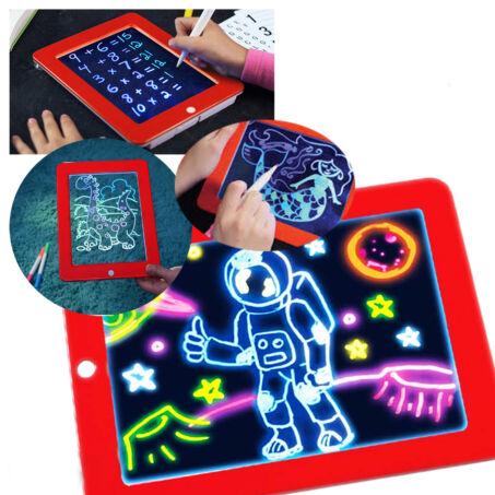 Magic Sketchpad készségfejlesztő, színes, világítós rajztábla, üzenőtábla gyerekeknek