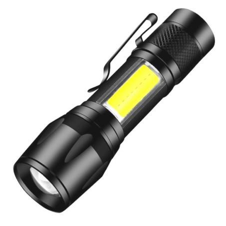 Mini Power Style COB LED extra fényerejű, kis méretű többfunkciós zseblámpa műanyag dobozban