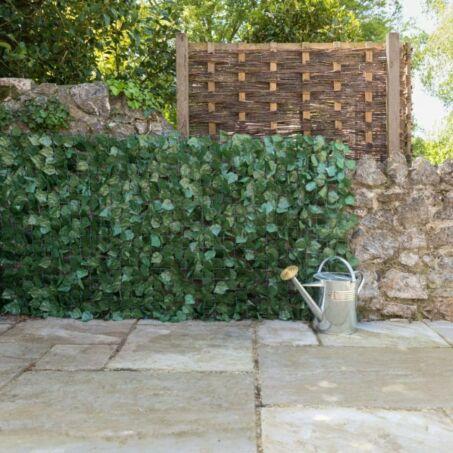 Belátásgátló sövény, kerítés, műsövény háló, zöld. 1x1,5 méter