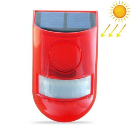 Napelemes vezeték nélküli mozgásérzékelős riasztó jelzőfénnyel, szirénával